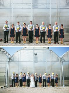(Again, great pictures and ideas on the blogpost if you click the link) yellow and navy wedding