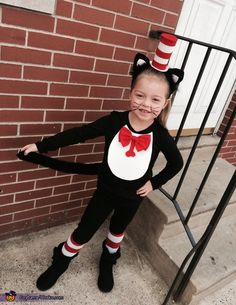 Renee: This is my 5 year old niece, Lillyana. This year we decided to make our own Halloween costumes. She decided to be The Cat in The Hat. I used a...