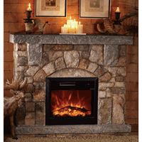 Fireplaces On Pinterest Stone Electric Fireplace Electric Fireplace With Mantel And