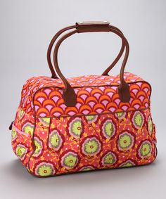 Take a look at this Tangerine Buttercup Dream Organic Weekender on zulily today!
