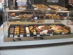 Unbelievable. The pastry counter at a McDonald's on the autoroute in France.
