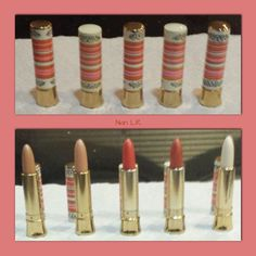 5 Yardley Lipsticks - unused full tubes! The shades are Cinnamon, Prairie Gold, Prairie Bronze, Candied, and Good Night. Sold for $99 in 2015. What a great deal!