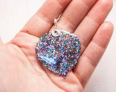 Confetti Glitter Aspen Leaf Necklace, Limited Edition, Bridesmaid Necklace, Nature Jewelry