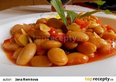 Pilaki - pikantní fazole recept - TopRecepty.cz Black Eyed Peas, Fruit Salad, Food And Drink, Healthy Recipes, Healthy Food, Fit, Kochen, Health Recipes, Health Foods