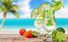 The Mojito has increased within the rates to become perhaps one of the most popular cocktails. Dieta Dash, Popular Cocktails, Summer Cocktails, Pina Colada Sem Alcool, Diet Drinks, Alcoholic Drinks, Titos Vodka Recipes, Sky E, Rum