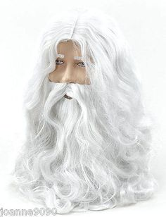 Deluxe santa fancy dress #costume white #wizard wig and #beard christmas hallowee,  View more on the LINK: 	http://www.zeppy.io/product/gb/2/190781875670/