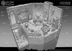 Feng Zhu Design: Old School RPG Room Designs