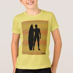 HAMbWG -  T Shirt -  Pale Gradients Surfer - kids kid child gift idea diy personalize design