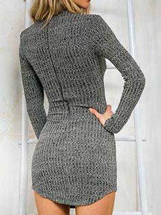 Persun Women Gray V Neck Long Sleeve Bodycon Mini Sweater Dress Top  Persun Women Gray V Neck Long Sleeve Bodycon Mini Sweater Dress Top  Please Note: The size is Asia size, not US/UK size.  S:Bust:80cm,Waist:60cm,Length:78cm  M:Bust:84cm,Waist:64cm,Length:79cm  L:Bust:88cm,Waist:68cm,Length:80cm  XL:Bust:92cm,Waist:72cm,Length:81cm      COLOR:Grey  DRESSES LENGTH:Mini  SILHOUETTE:Bodycon  SLEEVE LENGTH:Long sleeve  http://www.artydress.com/persun-women-gray-v-neck-long-sleeve-body..