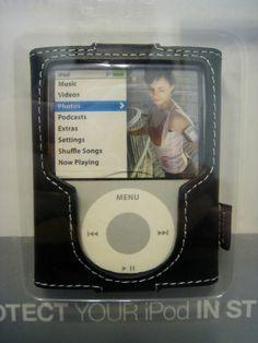 BELKIN Leather Sleeve Case for iPod 3G 3rd Gen Nano 4GB 8GB Black F8Z204-BLK
