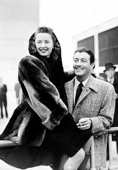 Barbara Stanwyck and Robert Taylor.