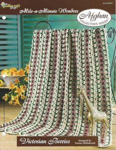 Victorian Berries Crochet Afghan Pattern by KnitKnacksCreations