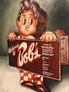 Big Boy Menu, Big Boy Restaurants, Boys Home, Riverside Drive, Vintage Restaurant, Historical Landmarks, Vintage California, Old Signs, Classic Cartoons