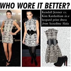 """""""Who Wore It Better: Kendall Jenner or Kim Kardashian?"""" by polyvore-editorial on Polyvore"""