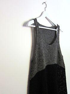 Asymmetrical Grey and Black Knit Top | EspaceTricot's Gunmetal Liesl
