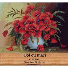 Set Goblen Bol cu maci http://set-goblen.ro/flori/3478-bol-cu-maci.html