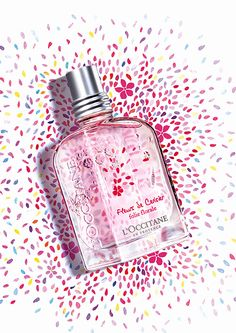 "L`Occitane en Provence Fleurs de Cerisier Folie Florale ~  ""When springtime comes, white blossoms appear on the branches of the cherry trees. Like floral fireworks, they light up the orchards of Provence. The flowers burst open, releasing a vibrant, sparkling scent."""