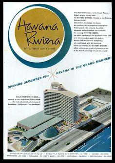1957 Havana Riviera Cuba hotel