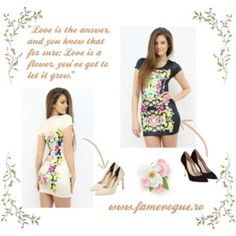 The loveliest floral dresses for Valentine's Day. Floral Style, Floral Dresses, Style Fashion, Valentines Day, Outfit Ideas, Polyvore, Outfits, Shopping, Collection