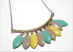 collier - petites pastilles emaillées  de craftingkaschemme sur DaWanda.com