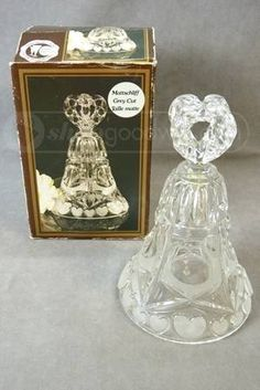 shopgoodwill.com: Lead Crystal Dinner Bell Cloche made in W Germany
