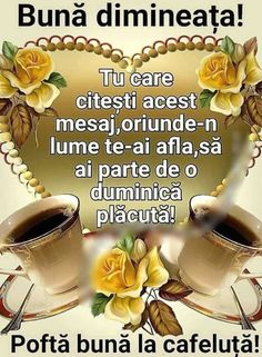 Imagini buni dimineata si o zi frumoasa pentru tine! - BunaDimineataImagini.ro Good Morning, Good Day, Bonjour, Buongiorno