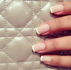 A classic french manicure is always a great idea. Love it!