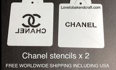 Chanelcakestencil Chanelcake Chanelcupcake Chanelcookies Fabulous Chanel stencil set of 2 Everyone love all of our designer brand decorating stencils Cake Chanel, Chanel Cookies, Chanel Cupcakes, Gucci Cake, Chanel Party, Cake Decorating Company, Cake Decorating Tutorials, Cake Stencil, Stencils