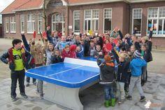 Pingpongtafel Afgerond Blauw bij Basisschool Walburgis in Netterden