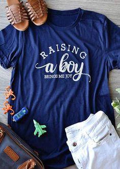 e3fcd24952f Raising A Boy Brings Me Joy T-Shirt  tshirt  tshirts  t