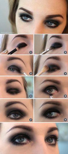 Black Eyeshadow | Colorful Eyeshadow Tutorials For Beginners
