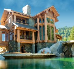 Post and Beam Homes | West Coast Log Homes | Gibsons, BC Canada  I am in love.