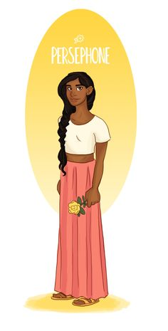 """"""" Modern Day Olympic Pantheon Persephone - She loves being outdoors, especially in the springtime. She is beautiful and soft spoken, quite the opposite of her husband, Hades. """" Check out the others!..."""