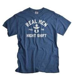 029ce67a New Dad Shirt - Fathers Day Gift for Daddy - Baby Shower Gifts for Dad -  Real Men Pull the Night Shift Tshirt