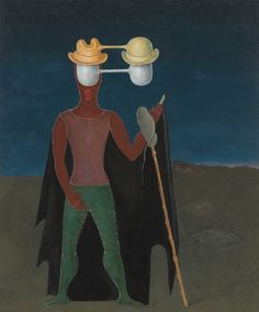 """Victor Brauner, """"Christopher Columbus"""", oil on canvas, The Art Institute of Chicago. Illusion, Modern Art Artists, Victor Brauner, Dorothea Tanning, Francis Picabia, Max Ernst, Rene Magritte, Man Ray, Christopher Columbus"""