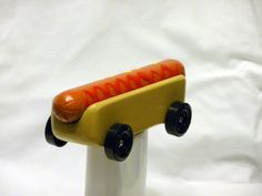 We're very fond of this hot dog car design for the AWANA derby