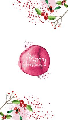 Pink Iphone  merry Christmas Wallpapers