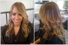 Advice from the pros, if you want a hair color that really lasts and doesn't require you to visit the salon every 4 weeks for upkeep, then take this example to your colorist.  Kazumi Morton eliminated the highlight streaks, blended a more natural color with her client's lighter ends, and added fine face framing highlights for an added pop. Result: a low maintenance color that allows for growth without the need for touch ups.