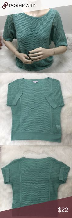New York & Company Crochet Shirt Description: Very cute crochet sweater.  ⚠️I always look through each item throughly once received and right before shipping, but things can be missed. Just let me know, so I can improve.⚠️  Measurement: Length from back of shirt top to bottom is 22in Arm pit to arm pit is 19in  ⚠️all measurements are an estimate⚠️  🚫NO TRADES/NO HOLDS🚫  Please ask questions❓  💜Thank you for checking out my closet and don't be afraid to submit an offer💜 New York & Company…
