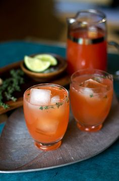 Blood Orange and Thyme Paloma Cocktail from www.aidamollenkamp.com