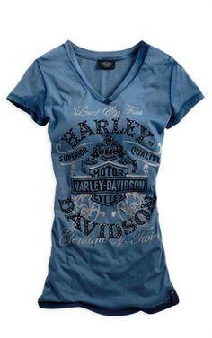 Harley-Davidson® Women's Black Label Short Sleeve Tee 96204-14VW