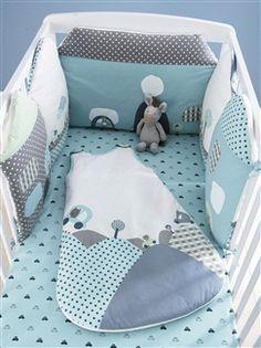 Tour de lit maisons modulable bébé thème Libertyville