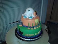 Elijah's 5th Birthday Cake for his Spooky themed party.
