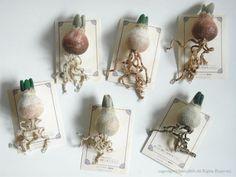 球根ブローチ by ヒツジフエルト縮絨室-ヒロタリョウコ[ Bulbs Brooch by Felt Fulling Labo-Ryoko Hirota]