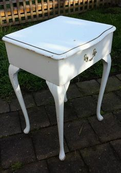Queen Anne Style Bedside Table In Melbourne, VIC
