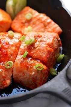 Sweet and Spicy Sriracha Baked Salmon - this is sure to be a new favorite!