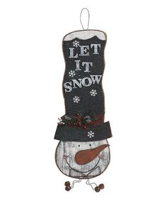 'Let It Snow' Snowman Wall Hanging
