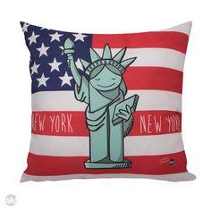 CAPA DE ALMOFADA - NEW YORK