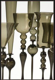 James Mongrain Blown Glass - Hand Blown Goblets & Glass Blowing Class