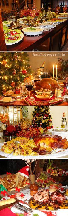 mesa-de-natal-dicas-e-fotos-de-decoração-de-arranjos-de-mesa-de-apoio-comidas
